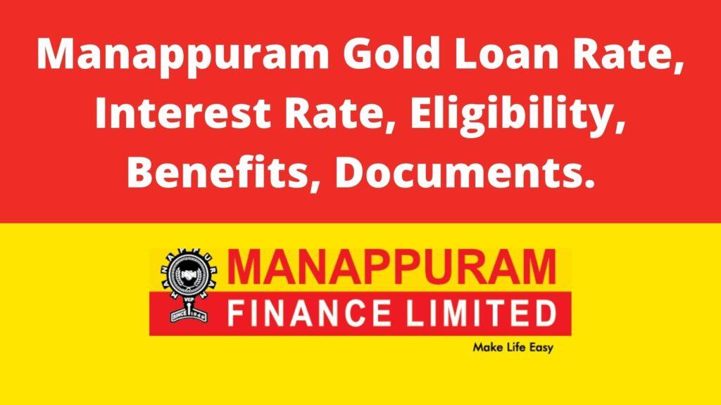 Manappuram Gold Loan Rate Per Gram